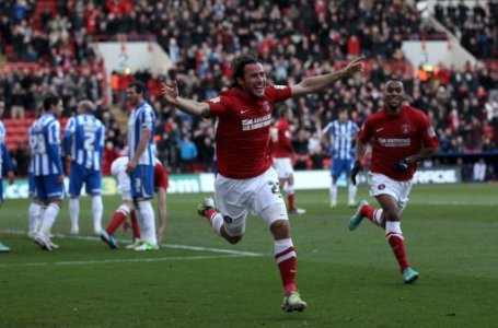 Charlton Athletic's Lawrie Wilson celebrates scoring during the npower Football League Championship match at The Valley, London.