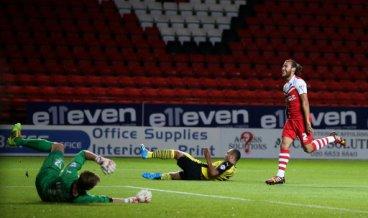 Charlton Athletic's Lawrie Wilson celebrates scoring their third goal of the game